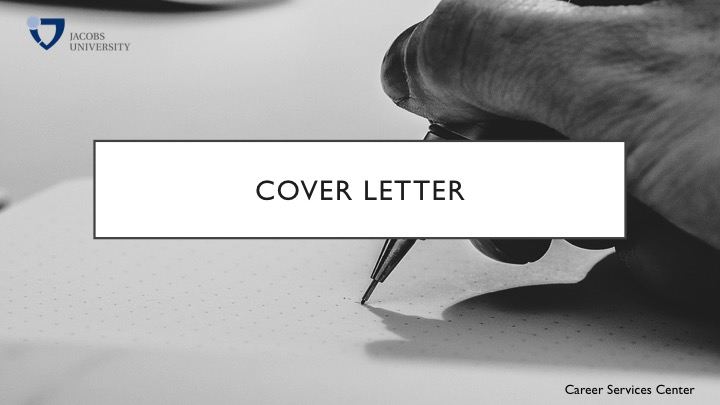 what is a coverletter